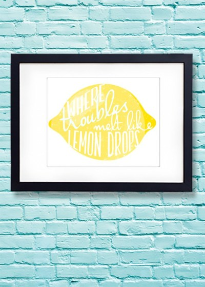 lemondrops printable
